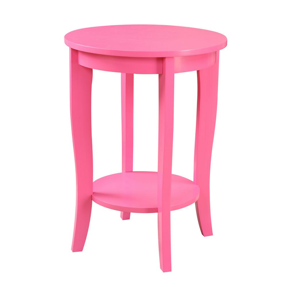 American Heritage Round Pink End Table
