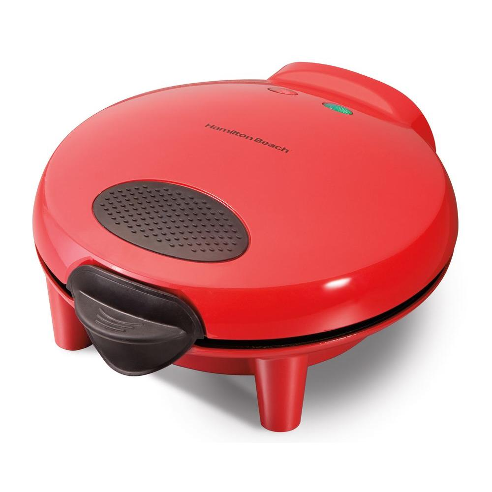 Hamilton Beach 6 Wedge Quesadilla Maker, Red Love Mexican restaurants but don't want to wait. Layer some cheese, beans, vegetables, or meat inside two 7 in. to 8 in. tortillas, cook in the Hamilton Beach Quesadilla Maker for a few minutes and viola dinner is served. Hot and ready to eat in about 5 minutes. Color: Red.