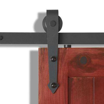 78-3/4 in. X 11 in.  Arrow Rail Sandy Black Steel Sliding Door Hardware Kit