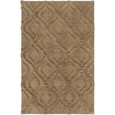 Kabru Mocha 5 ft. x 8 ft. Indoor Area Rug