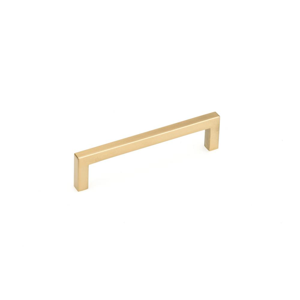 Richelieu Hardware 5-1/16 in. (128 mm) Aurum Brushed Gold Contemporary Drawer Pull