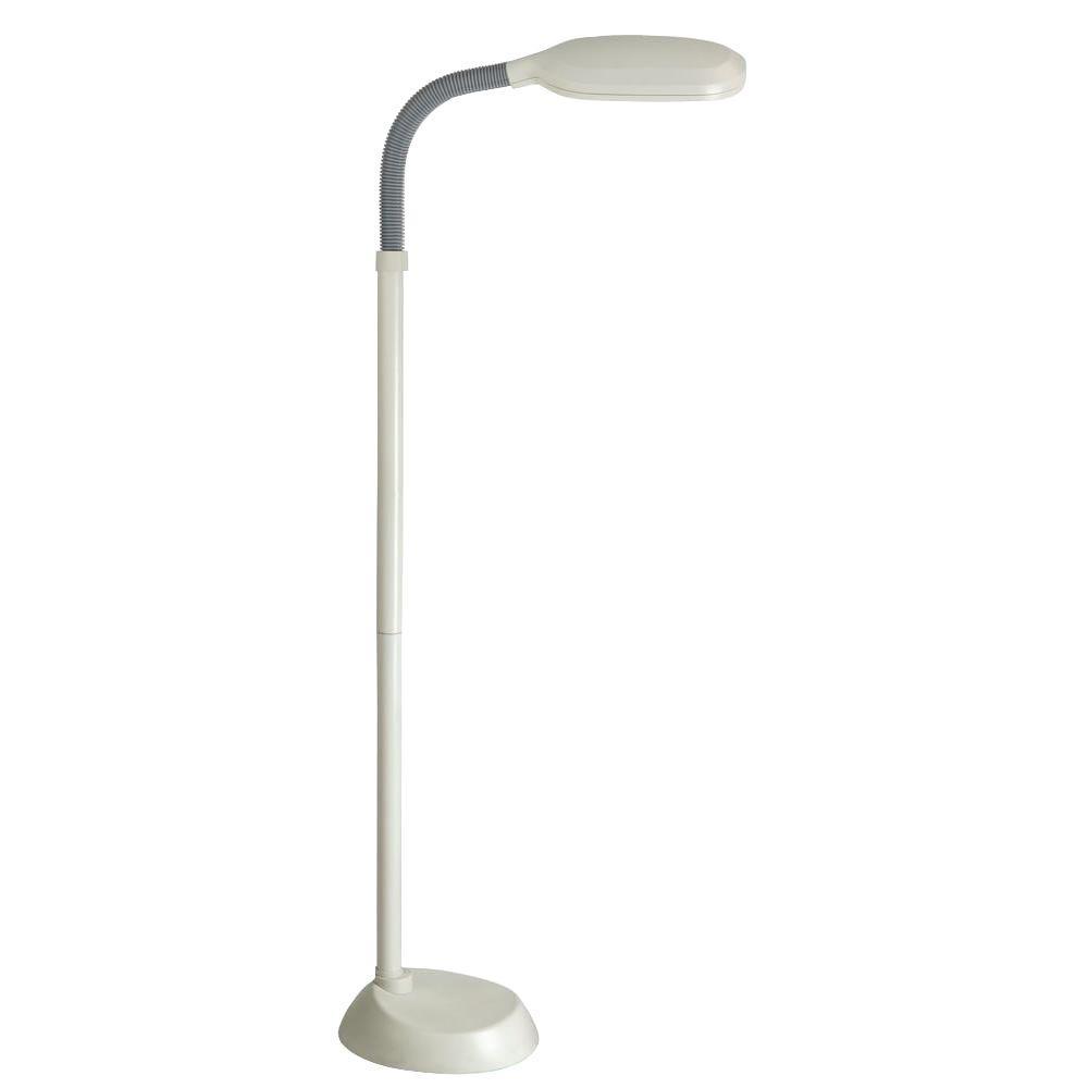 Illumine 52 in. Ivory Floor Lamp