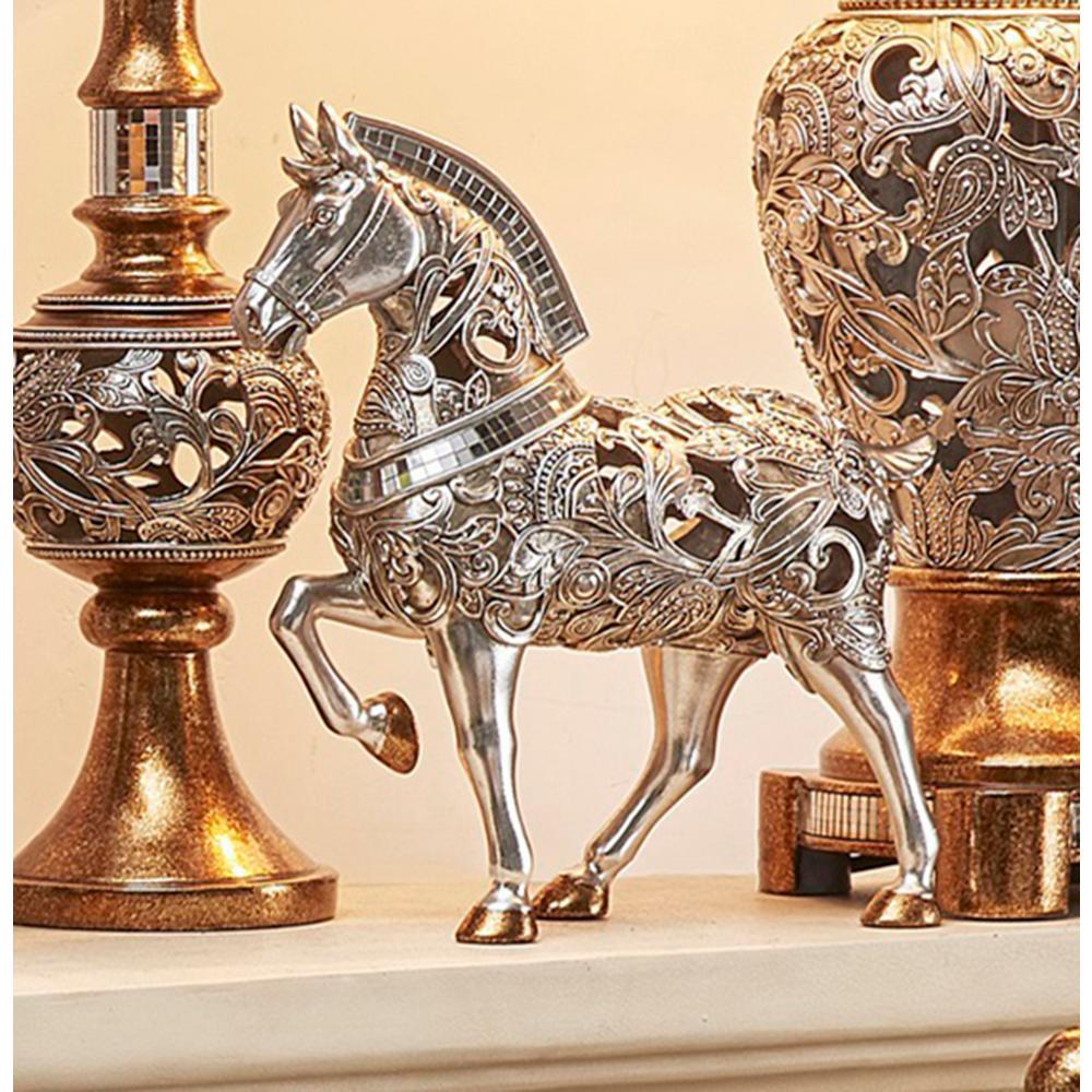 ORE International Langi Polyresin Rounded Decorative Trojan