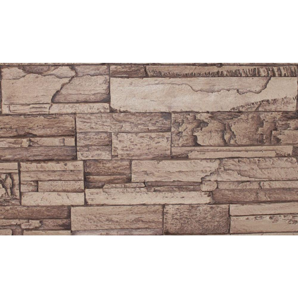 Superior Building Supplies Cinnamon 8 in. x 8 in. x 3/4 in. Faux Tennessee Stone Sample, Brown with a slight red hue. This faux stone sample is made from high-density polyurethane and allows you to create the natural look of real stone at a fraction of the price. Each stone has a unique interlocking system that allows for quick and easy installation, no grout required. The hand finished design is ideal for both indoor and outdoor applications. Color: Brown with a slight red hue..
