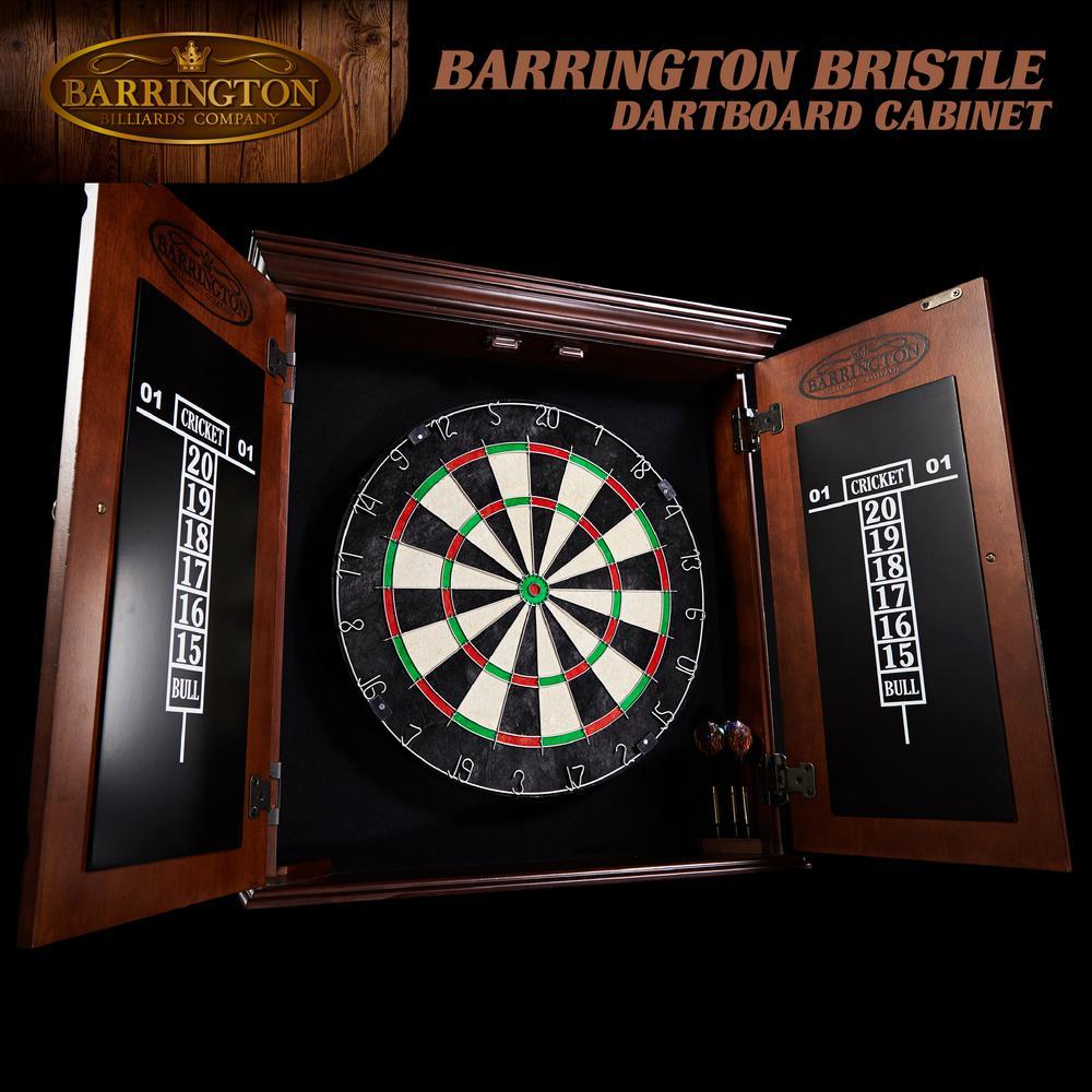 Barrington Chatham Bristle Dart Board And Cabinet Set Drb100 047b