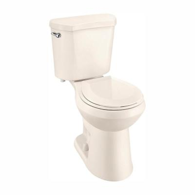 2-Piece 1.28 GPF High Efficiency Single Flush Round Toilet in Bone