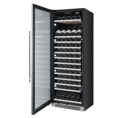 141-Bottle 24 in. Built-in Wine Cooler with Argon Filled Double Paned Glass - Left Hinge