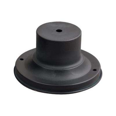 Outdoor Accessories 3 in. Charcoal Outdoor Pier Mount Base