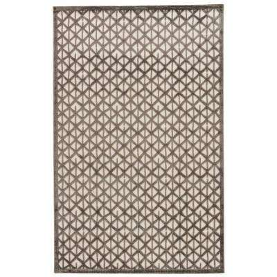 Machine Made Flint Gray 5 ft. x 8 ft. Tribal Area Rug