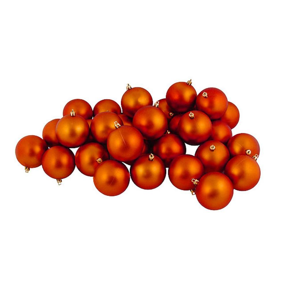 Christmas Decorations With Orange: 12ct Matte Burnt Orange Shatterproof Christmas Ball
