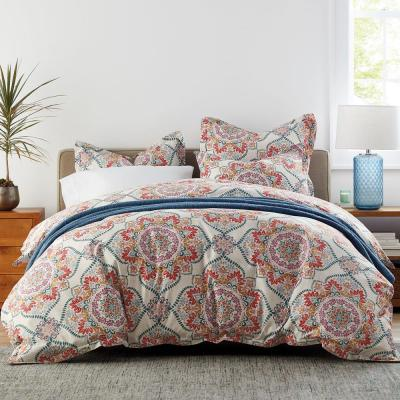 Harrison Medallion Wrinkle-Free Sateen Duvet Cover