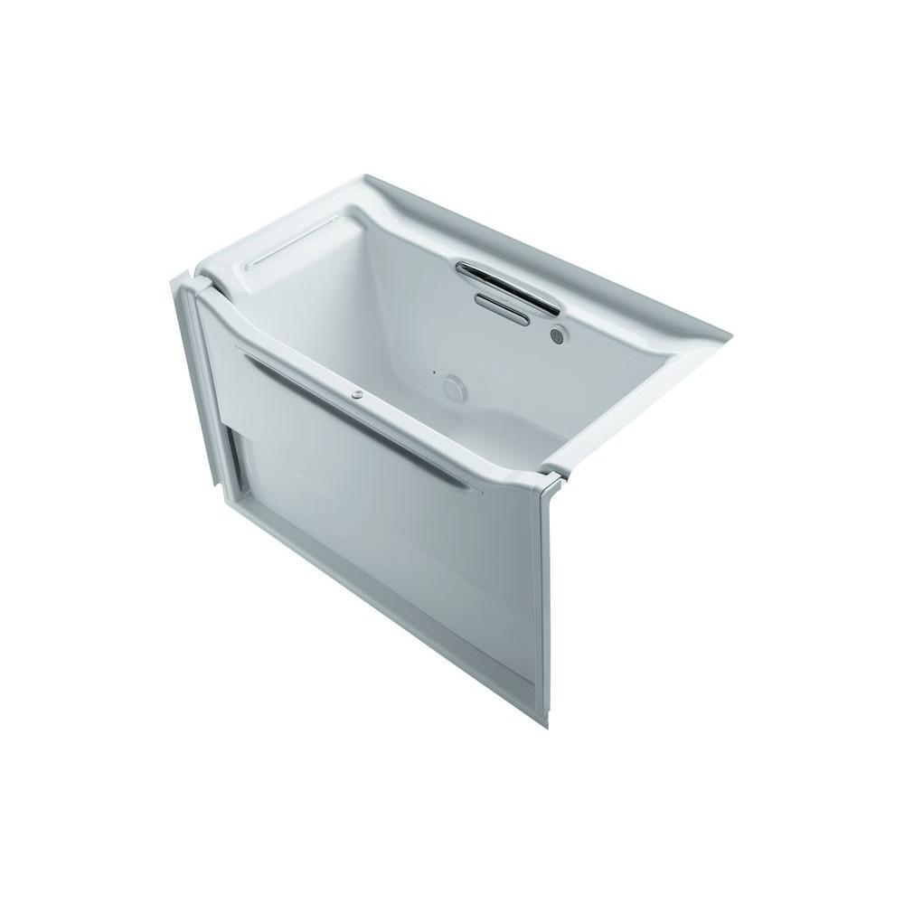 KOHLER Elevance 5 ft. Air Bath Tub in White-K-1914-GLBW-0 - The Home ...