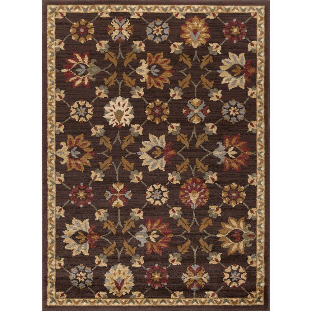 tayse rugs elegance brown 5 ft x 7 ft indoor area rug 5458 brown 5x7 the home depot. Black Bedroom Furniture Sets. Home Design Ideas