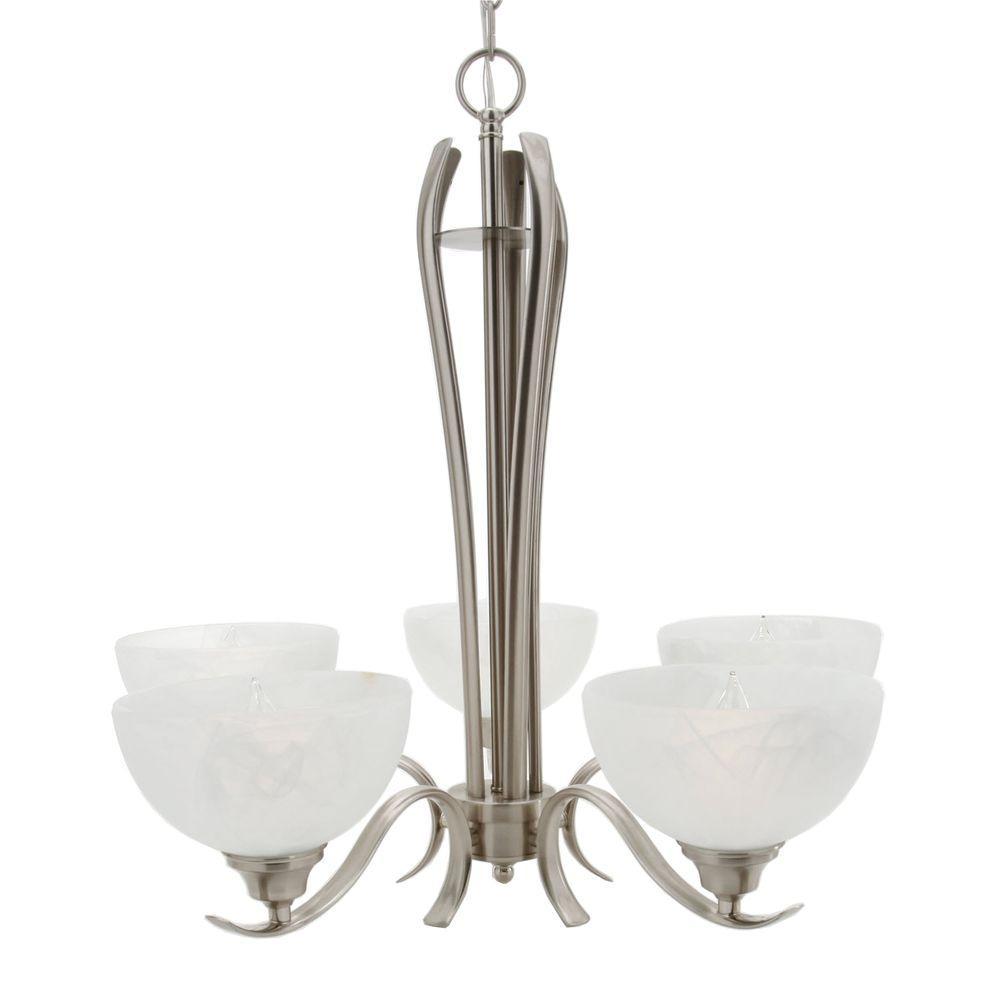 Design House Trevie 5-Light Satin Nickel Chandelier