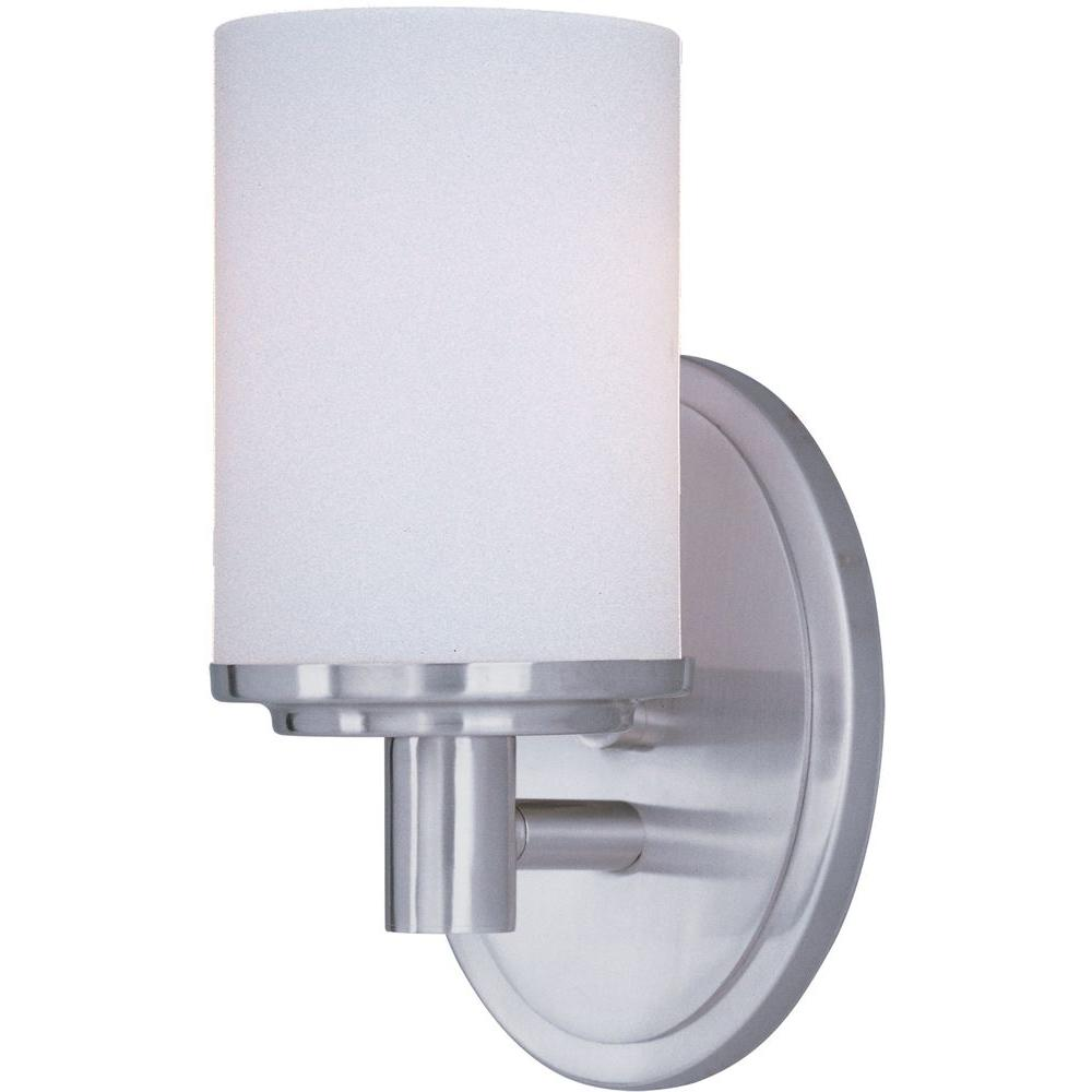 Maxim Lighting Cylinder 1-Light Satin Nickel Bath Vanity Light