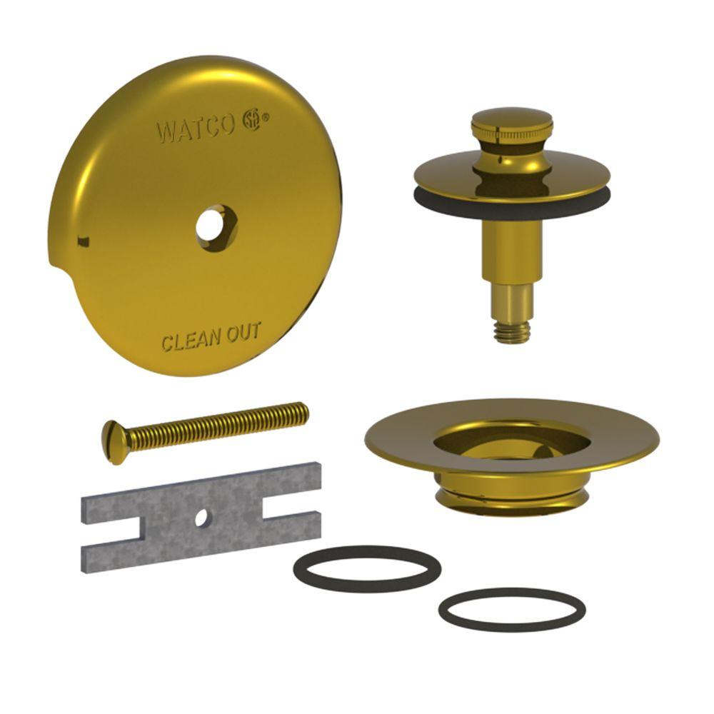 Watco QuickTrim Lift and Turn Bathtub Stopper and 1-Hole Overflow ...