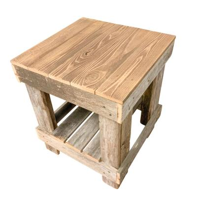 Reclaimed Barnwood Natural End Table