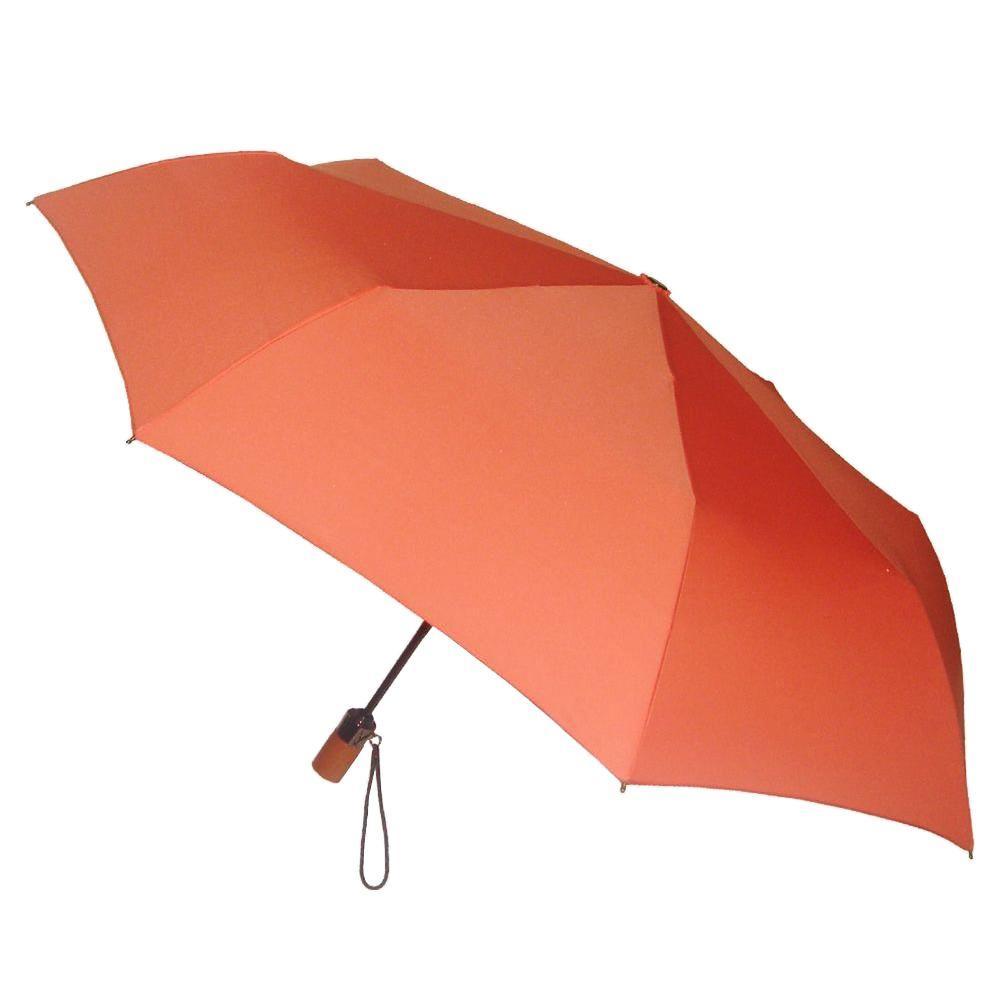 44 in. Arc Canopy 3 Sectional Telescopic Mini Auto Open Auto Close Umbrella in Ember