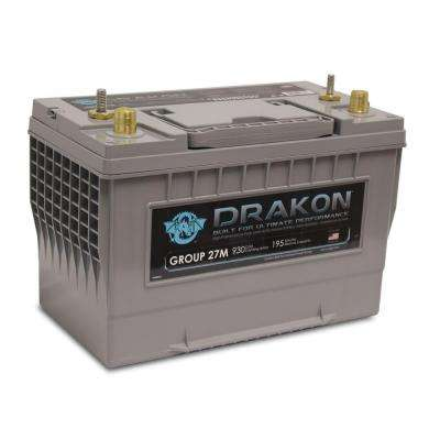 12-Volt High Performance Group 24 Pure Lead AGM Marine Battery