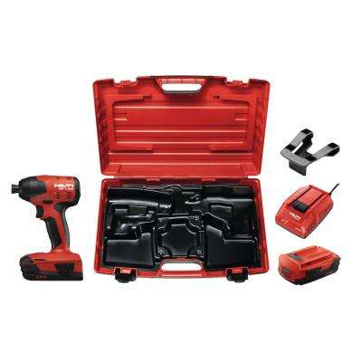 22-Volt Lithium-Ion 1/4 in. Hex Cordless Brushless SID 4 Compact Impact Driver with 3 Gear Speed and Kit Box