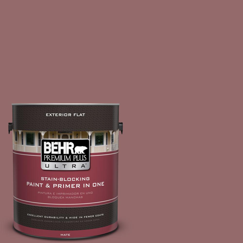1-gal. #140F-5 Clay Ridge Flat Exterior Paint