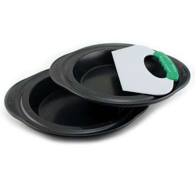Perfect Slice 3-Piece Pie Pan Set with Slicing Tool