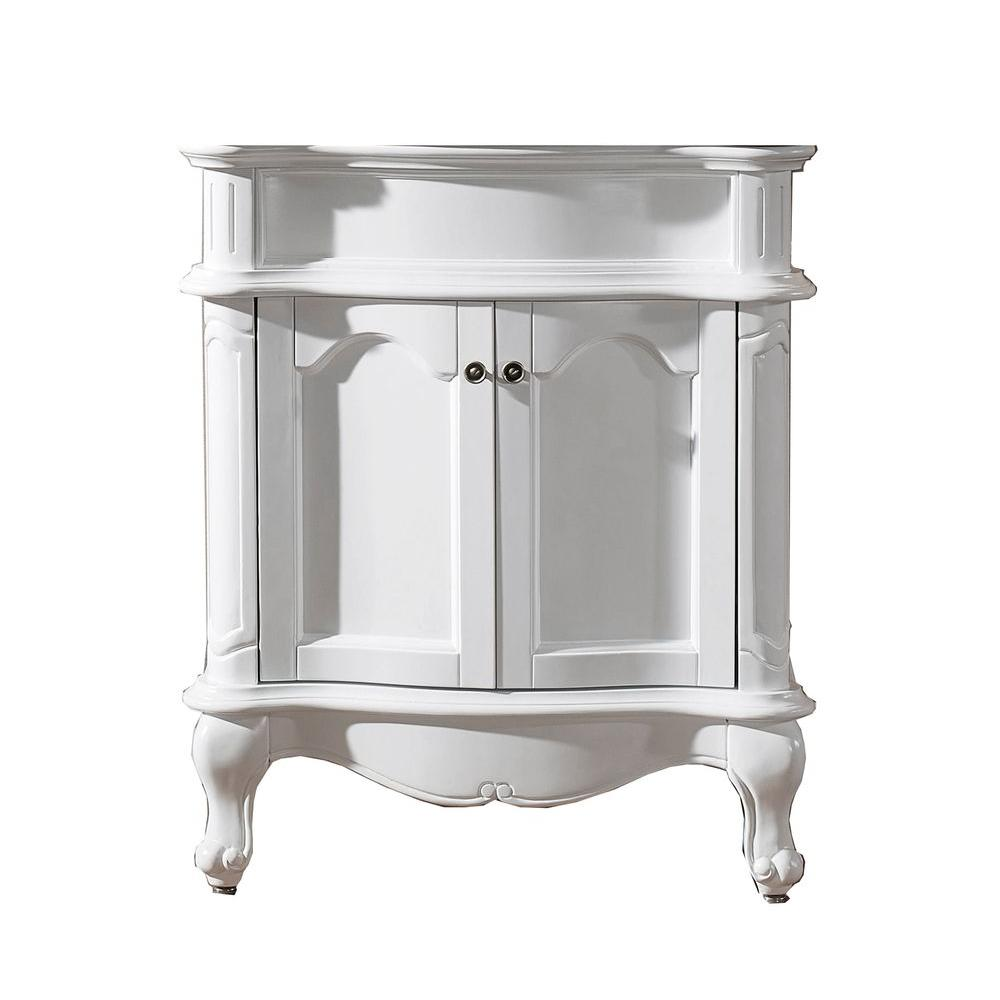 Virtu USA Norhaven 29 in. Vanity Cabinet Only in White-DISCONTINUED