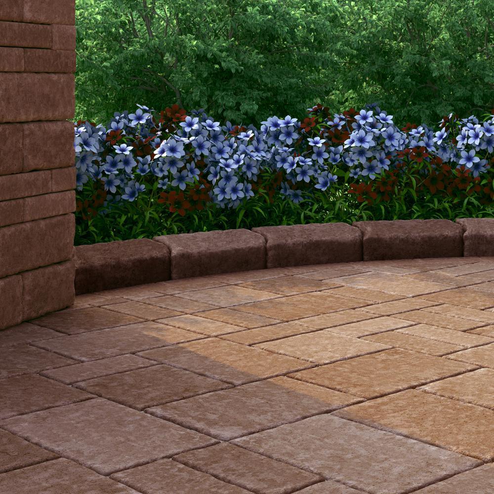 RumbleStone Medium 3.5 in. x 7 in. x 7 in. Sierra Blend Concrete Garden Wall Block (144 Pcs. / 24.5 Face ft. / Pallet)