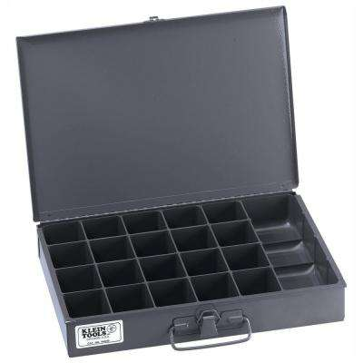 13 in. 21-Compartment Mid-Size Storage Box with Tool Compartment