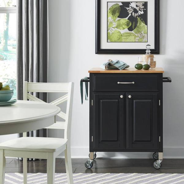 Home Styles Dolly Madison Black Kitchen Cart 4506-95