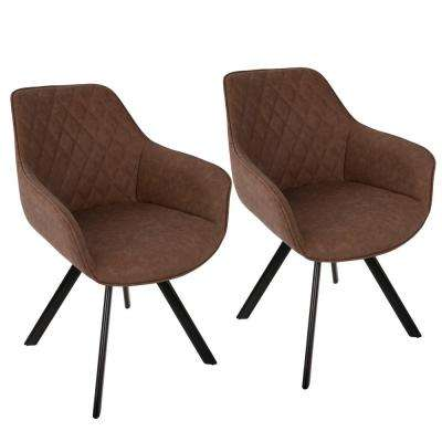 Outlaw Industrial Brown Dining/Accent Chair (Set of 2)