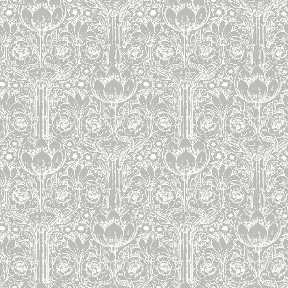 brewster odessa grey garden damask wallpaper sample. Black Bedroom Furniture Sets. Home Design Ideas