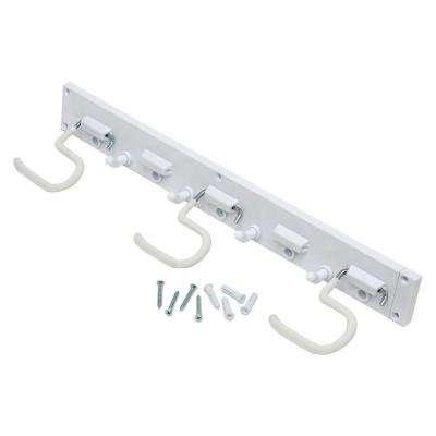 16 in. Wall-Mounted White Storage Organizer