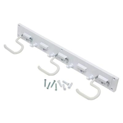 16 in. Wall-Mounted White Storage Tool Organizer