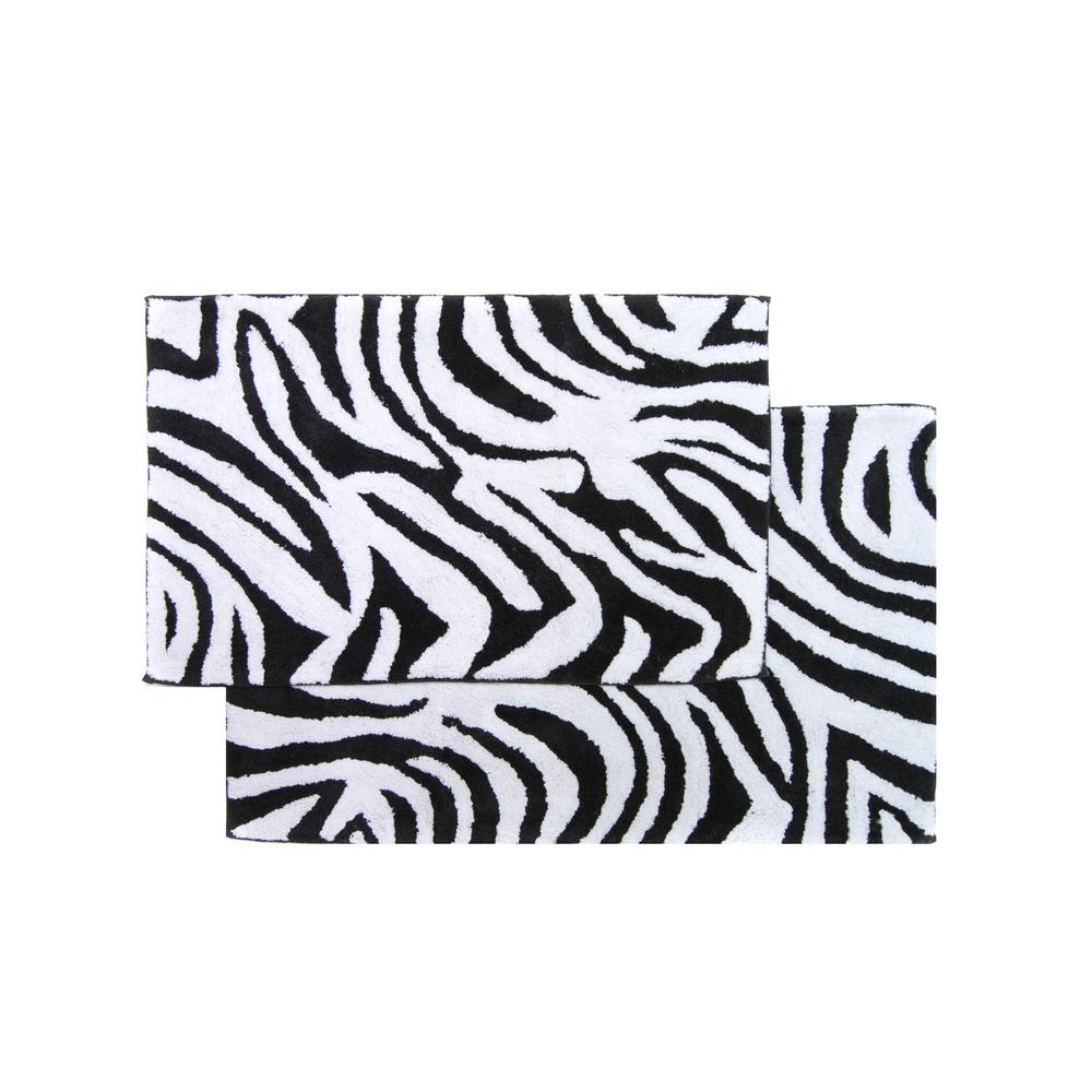 Chesapeake Merchandising Zebra Black And White 21 In X 34 24