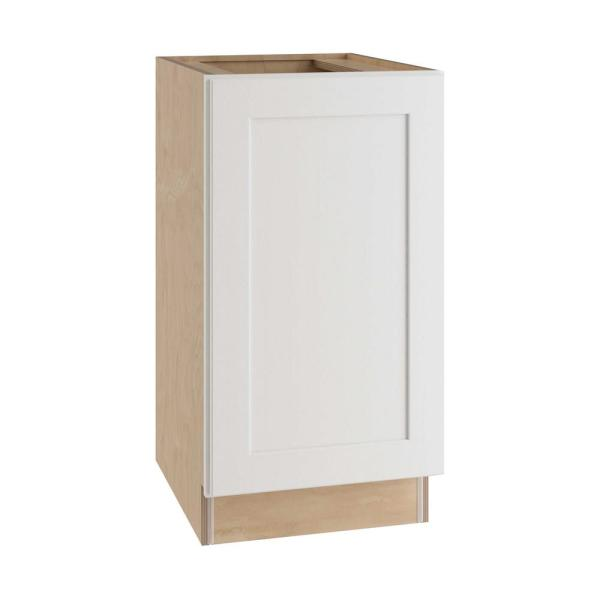 Home Decorators Collection Newport Assembled 18x34 5x24 In Plywood Shaker Double Wastebasket Base Kitchen Cabinet In Painted Pacific White B2wb18 Npw The Home Depot