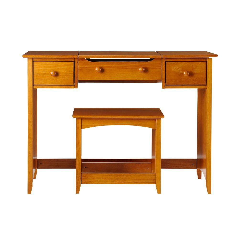Home Decorators Collection Hawthorne 44 in. W Oak Vanity with Folding Mirror