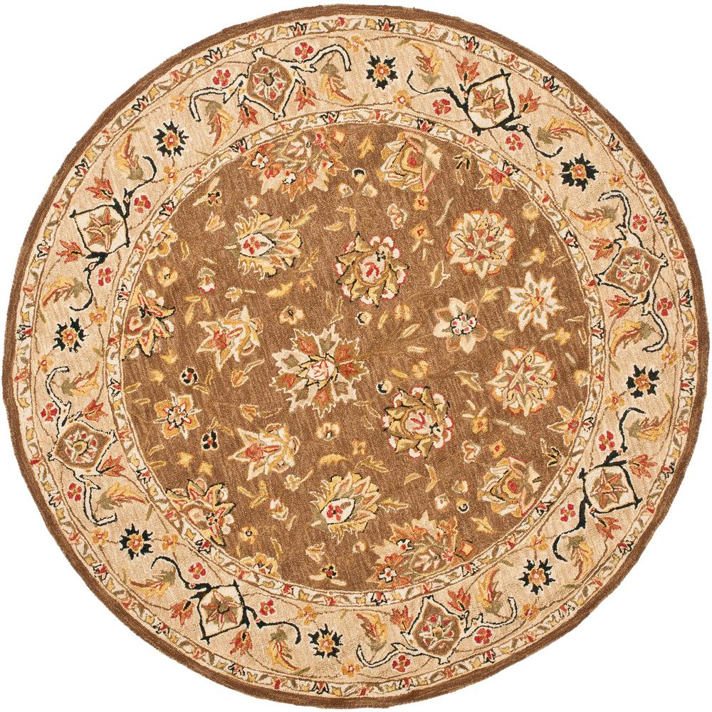 Safavieh Chelsea Brown Ivory 8 Ft X 8 Ft Round Area Rug