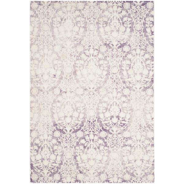 Passion Lavender/Ivory 3 ft. x 5 ft. Area Rug