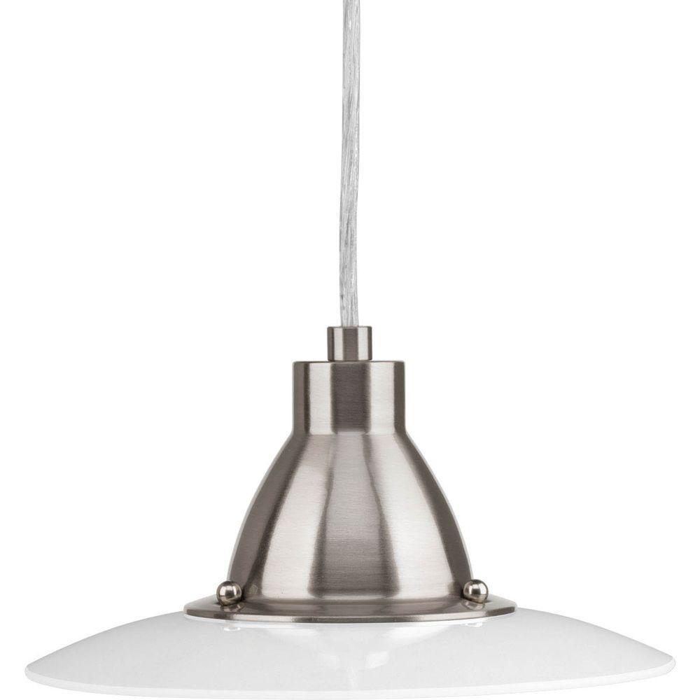 avant lighting. Progress Lighting Avant Collection 1-Light Brushed Nickel Integrated LED Mini Pendant