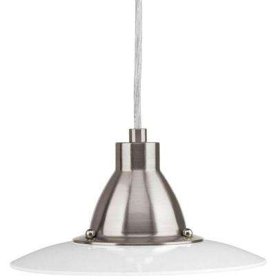 Avant Collection 1-Light Brushed Nickel LED Mini-Pendant