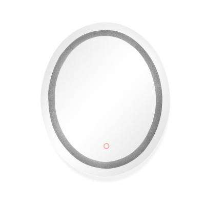 Edison Crystal Oval 30 in. x 36 in. Wall Backlit LED Mirror with Touch On/Off Dimmer and Anti-Fog Function