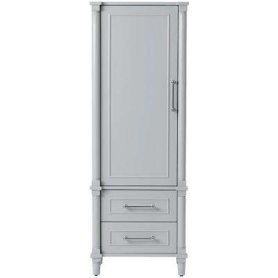 Aberdeen 20-3/4 in. W x 14-1/2 in. D x 60 in. H Bathroom Linen Cabinet in Dove Grey