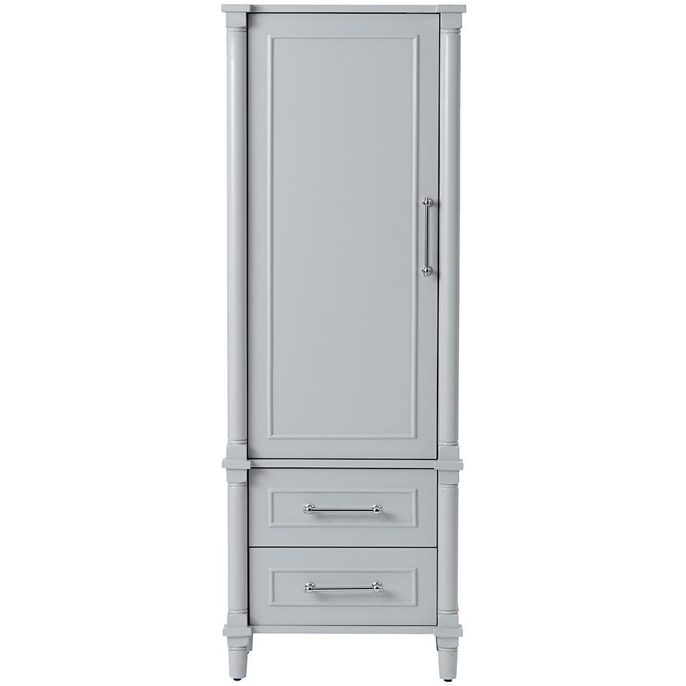 Aberdeen 20-3/4 in. W x 14-1/2 in. D x 60 in. H Bathroom Linen Cabinet in Dove Grey