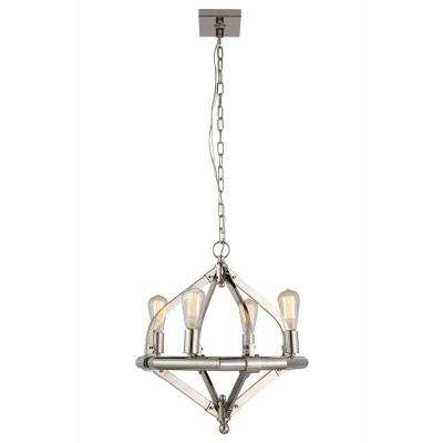 Illumina 4-Light Polished Nickel Pendant Lamp