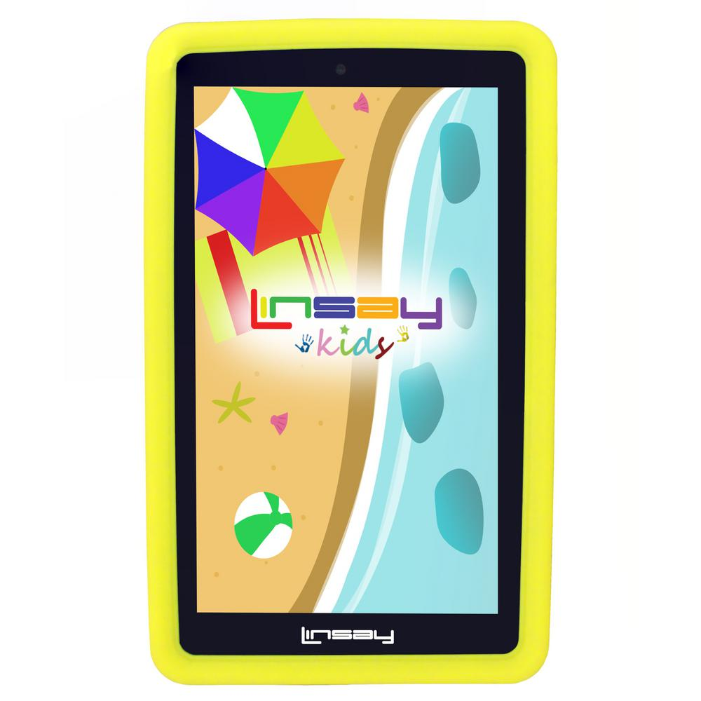 LINSAY 7 in. 2GB RAM 16GB Android 9.0 Pie Quad Core Tablet with Yellow Kids Defender Case was $119.99 now $59.99 (50.0% off)