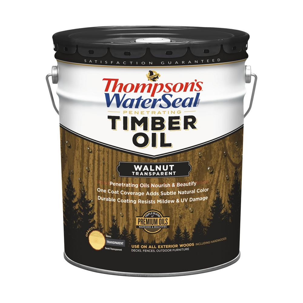 thompson 39 s waterseal 5 gal transparent walnut penetrating timber oil exterior