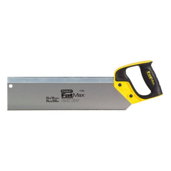 14 in. Back Saw with Rubber Handle