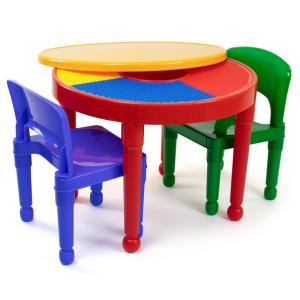 Prime Primary 2 In 1 Plastic Lego Compatible Kids Activity Table And 2 Chairs Set Andrewgaddart Wooden Chair Designs For Living Room Andrewgaddartcom
