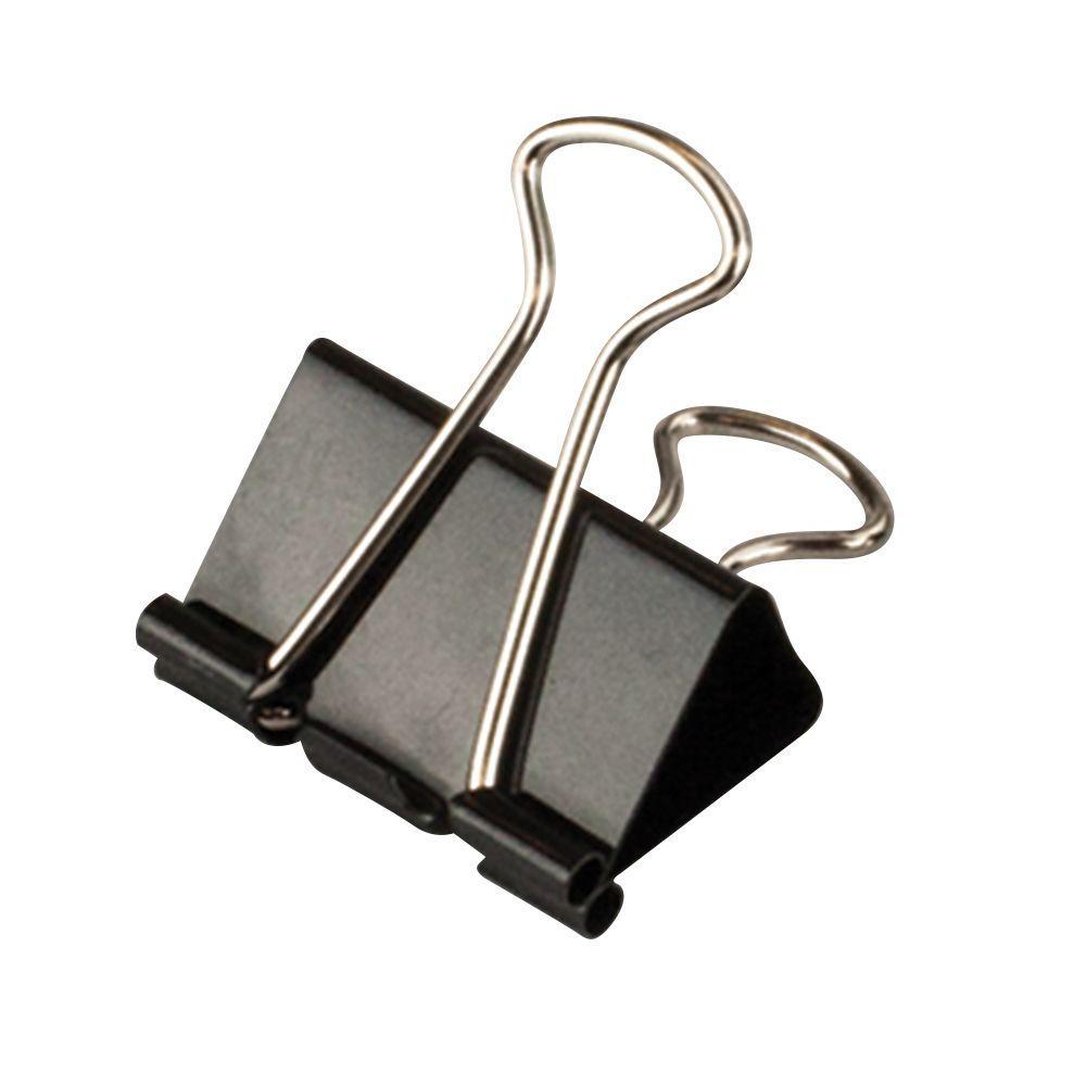 Medium Black Binder Clip (25 per Pack)
